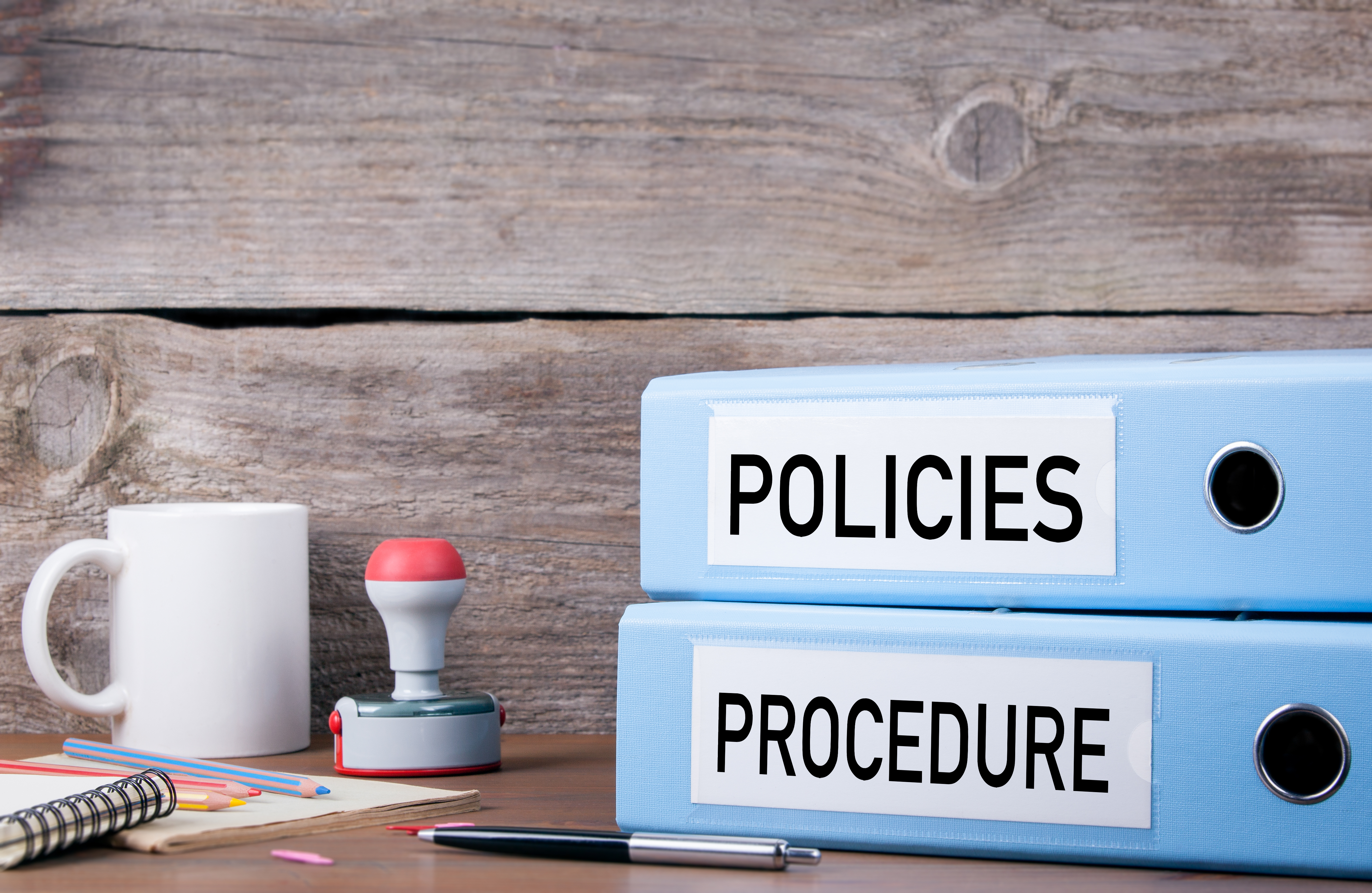 policies and procedure notebooks