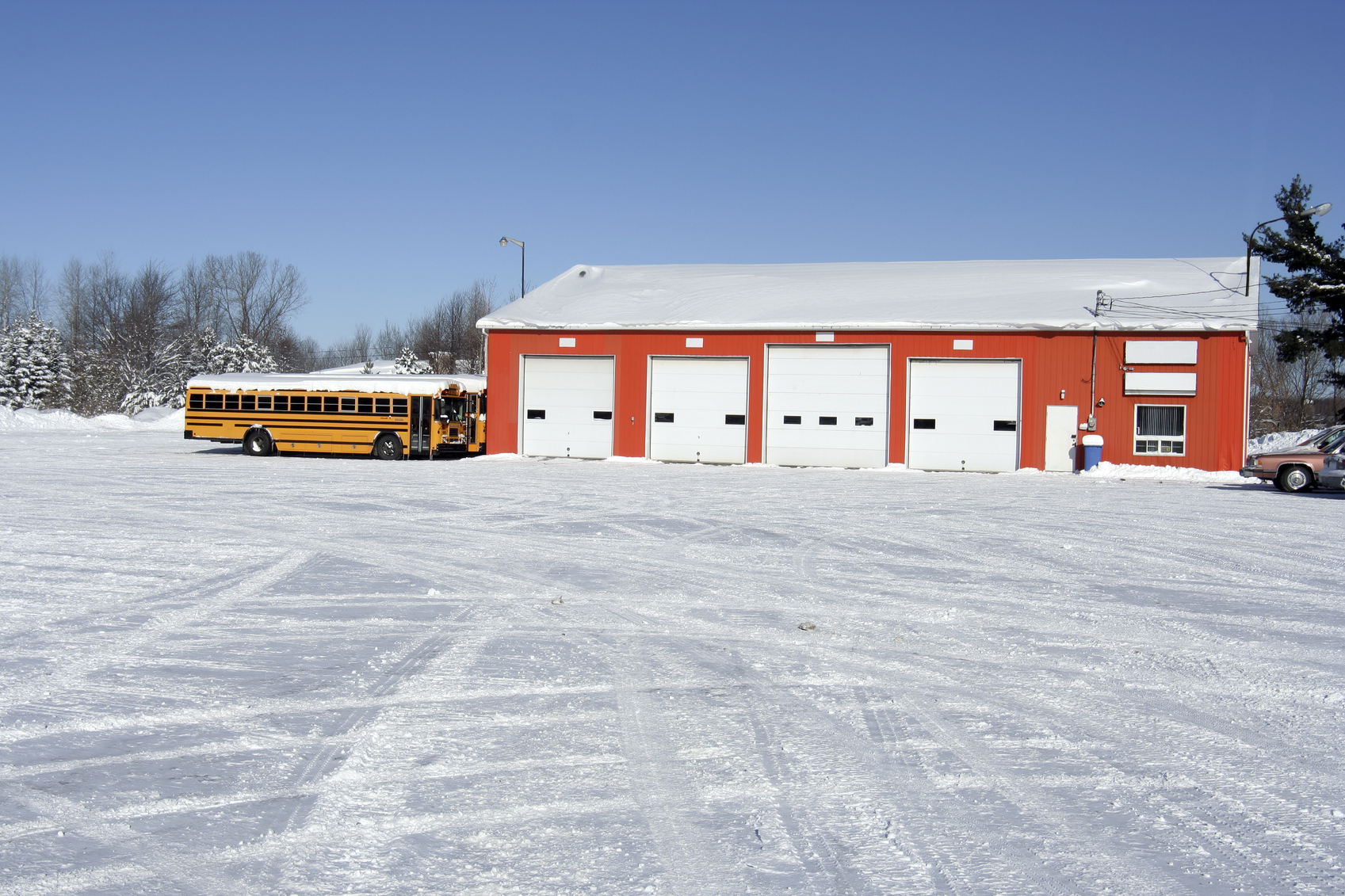 school bus garage