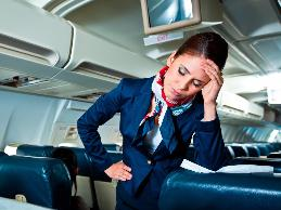A flight attendant with chronic fatigue syndrome was missing a lot of work due to fatigue.