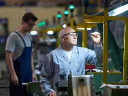 A large manufacturing plant needs to hire several production workers.