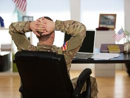 A veteran returned to his civilian job as a manager of sales for a small employer.